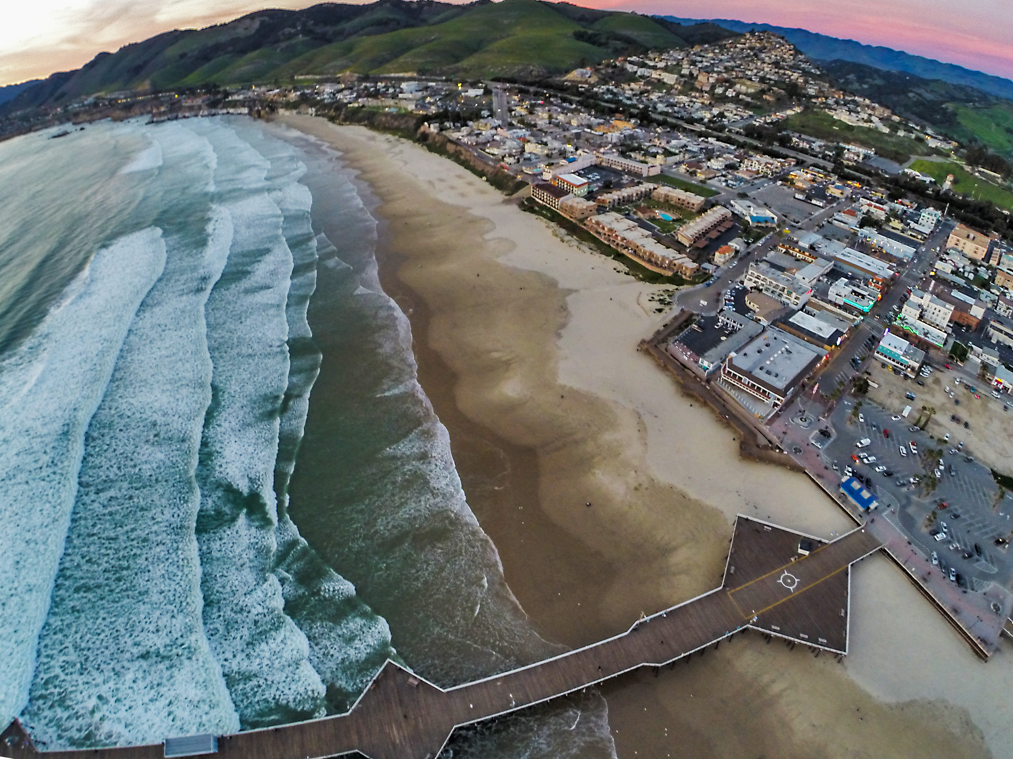 An Aerial Photo Taken With A Drone To Show How Close Home In Pismo Heights Is The Pier